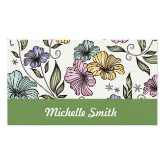 Elegant Victorian Vintage Flowers Business Cards