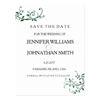 Elegant Vines Save the Date Cards