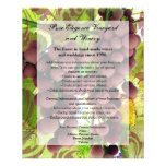 Elegant Vineyard Purple/Green Grapes Wedding 11.5 Cm X 14 Cm Flyer