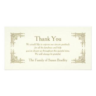 Elegant Vintage -1- Sympathy Thank You Photo Card Template