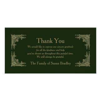 Elegant Vintage -2- Sympathy Thank You Personalized Photo Card