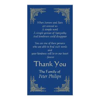Elegant Vintage -3- Sympathy Thank You Customized Photo Card