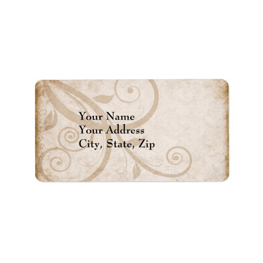 Elegant vintage Address Label