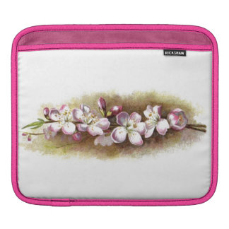 Elegant Vintage Apple Blossoms Classy Retro Floral iPad Sleeve