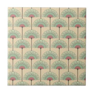 Elegant VIntage Art Deco Floral Tile