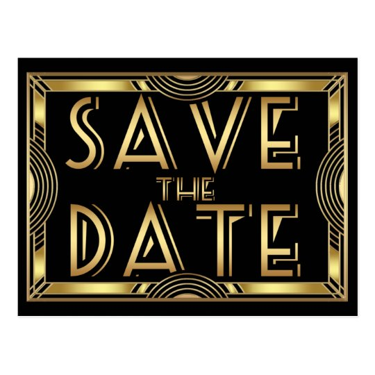 Elegant Vintage Art Deco Wedding Save the Date