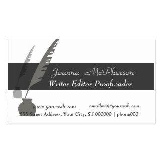 Elegant Vintage Attorney  Editor Writer Black Ink Pack Of Standard Business Cards