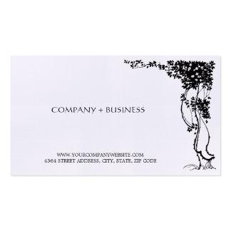 Elegant Vintage Beautiful Art Visiting Card Leaves Business Card