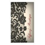 elegant Vintage black Lace Paris fashion Boutique Business Cards