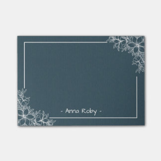Elegant Vintage Blue and White Botanical Floral Post-it Notes