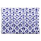 Elegant Vintage Blue and White Damask Pattern Placemat