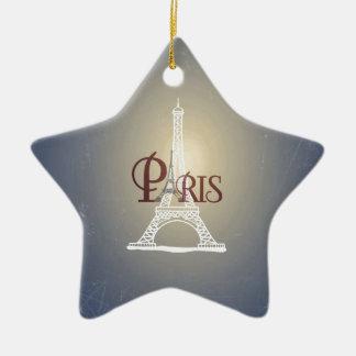 Elegant Vintage Blue Eiffel Tower Paris Design Ornaments