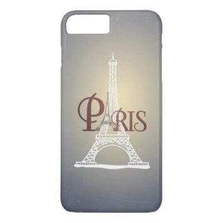 Elegant Vintage Blue Eiffel Tower Paris Design iPhone 8 Plus/7 Plus Case