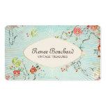 Elegant Vintage Blue Watercolor Floral Pack Of Standard Business Cards
