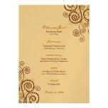 Elegant Vintage Boho Purple Spirals Wedding Menu Invite