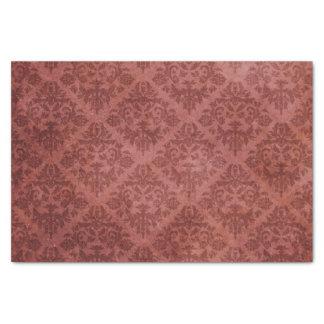 Elegant vintage burgundy floral chic damask tissue paper