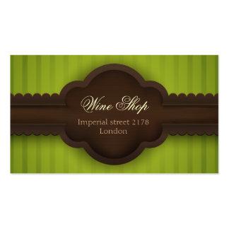 elegant vintage business card with wooden label