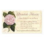 Elegant Vintage Camellia Gardener or Florist Business Card Templates