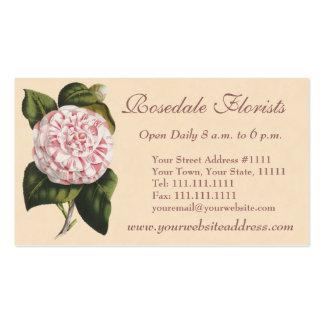 Elegant Vintage Camellia Gardener or Florist Business Card Template