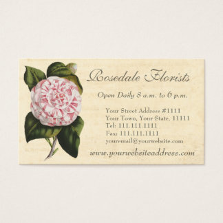 Elegant Vintage Camellia Gardener or Florist Business Card