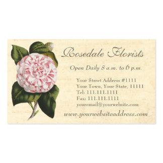 Elegant Vintage Camellia Gardener or Florist Pack Of Standard Business Cards
