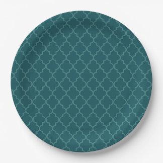 Elegant vintage christmas moroccan 9 inch paper plate