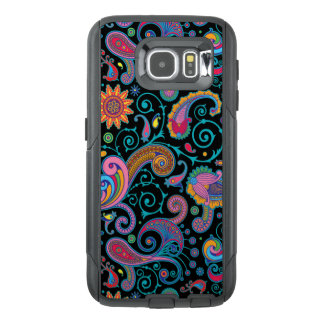 Elegant Vintage Colorful Floral Paisley Pattern OtterBox Samsung Galaxy S6 Case