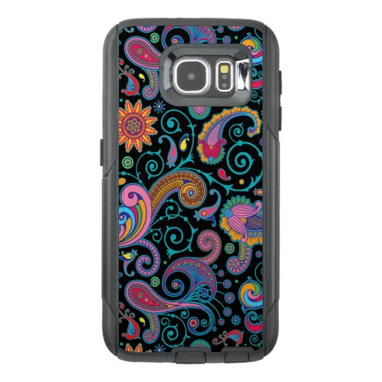 Elegant Vintage Colourful Floral Paisley Pattern OtterBox Samsung