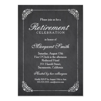 Elegant Vintage Corporate Retirement Party Card