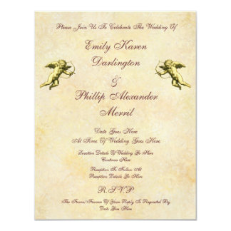 Elegant Vintage Cupids & Cherubs Wedding Card