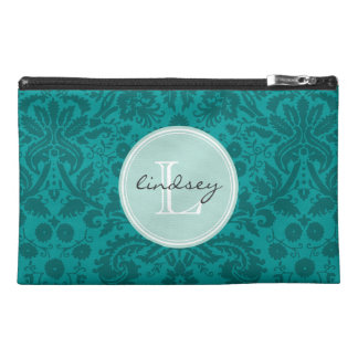 Elegant Vintage Damask Custom Monogram Travel Accessory Bag
