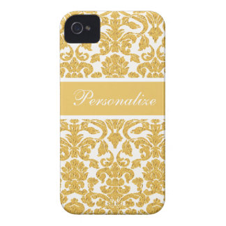 Elegant Vintage Damask Pattern Personalized iPhone 4 Case
