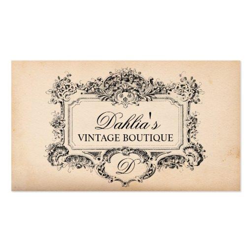 Elegant vintage decoration fashion boutique double sided standard business ca - Boutique deco vintage ...