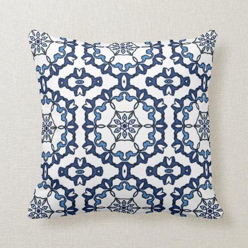 Vintage Floral Delft Blue Cushions, Vintage Floral Delft Blue Cushions