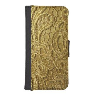 Elegant Vintage Fashion Gold Lace Phone Wallets