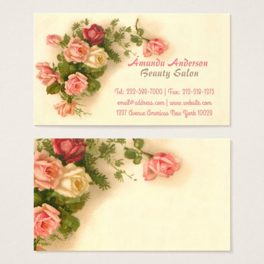 Elegant vintage floral business card