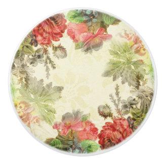 Elegant Vintage Floral Ceramic Knob
