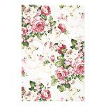 Elegant Vintage Floral Cottage Cream Rose Stationery