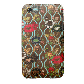 Elegant Vintage Floral Decorative Design iPhone 3 Case