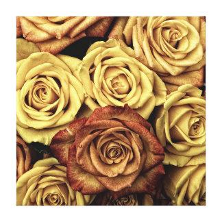 Elegant Vintage Floral Dried Roses Victorian Stretched Canvas Prints