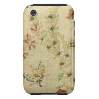 Elegant Vintage Floral Fabric (10) Tough iPhone 3 Case