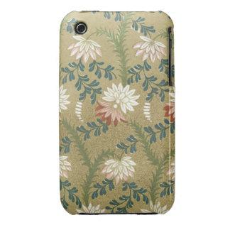Elegant Vintage Floral Fabric (9) iPhone 3 Cases