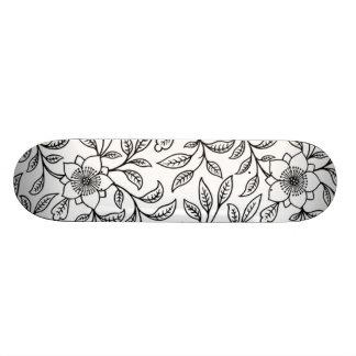 Elegant Vintage Floral Leaf Girly Sissy Skateboard