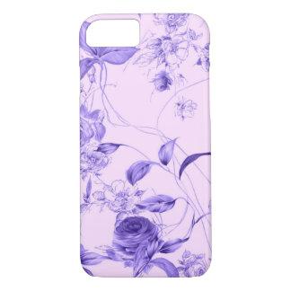 Elegant Vintage Floral Purple Lavender Rose Case