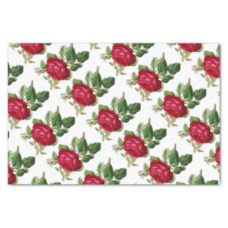 Elegant Vintage Floral Red Rose Tissue Paper