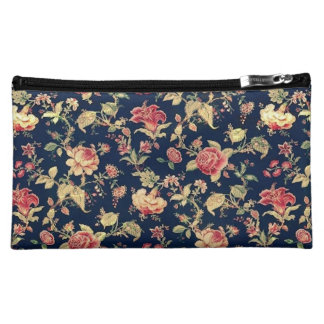 Elegant Vintage Floral Rose Cosmetic Bag