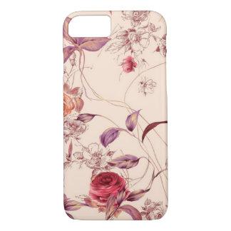 Elegant Vintage Floral Rose iPhone 7 case