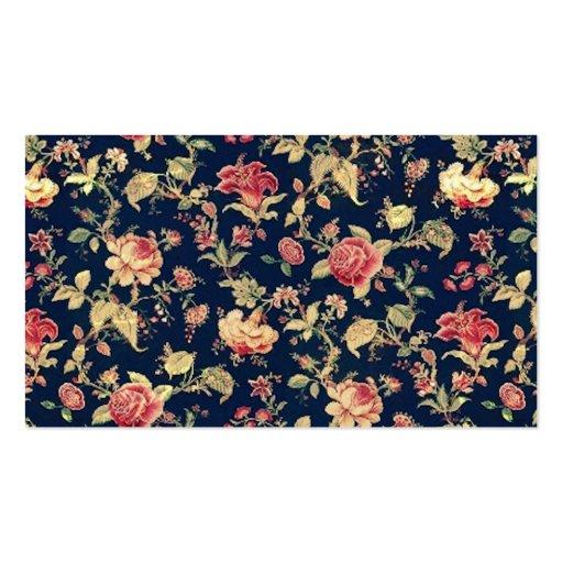 Elegant Vintage Floral Rose Pattern Template Business Cards