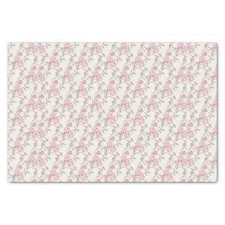 """Elegant Vintage Floral Rose Pink 10"""" X 15"""" Tissue Paper"""