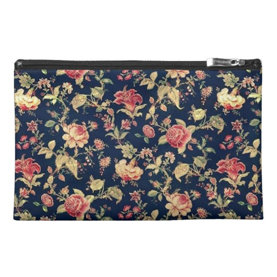 Elegant Vintage Floral Rose Travel Accessory Bag
